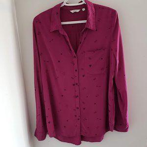 Reitman button up pink blouse